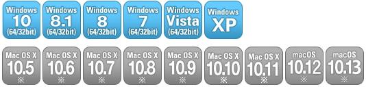 対応OS(パソコン)
